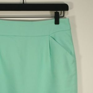 J. Crew Pencil Skirt in Mint Green